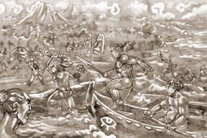 West: Canoe Assault by PaleLonginus