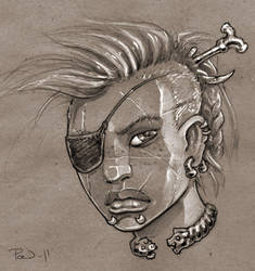 Warrior Portrait by PaleLonginus
