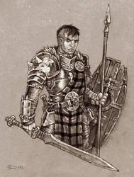 Primitive Knight by PaleLonginus