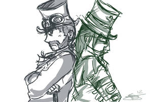 Trade - Brothers in SteamPunk by Purplestuffles