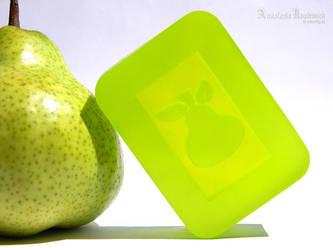 Pear Soap by AnasteziA