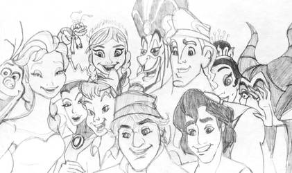 OscarSelfie 2014 Disney Style by dlfreak84