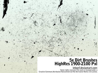 5x Dirt Brushes Hi-Res by leboef