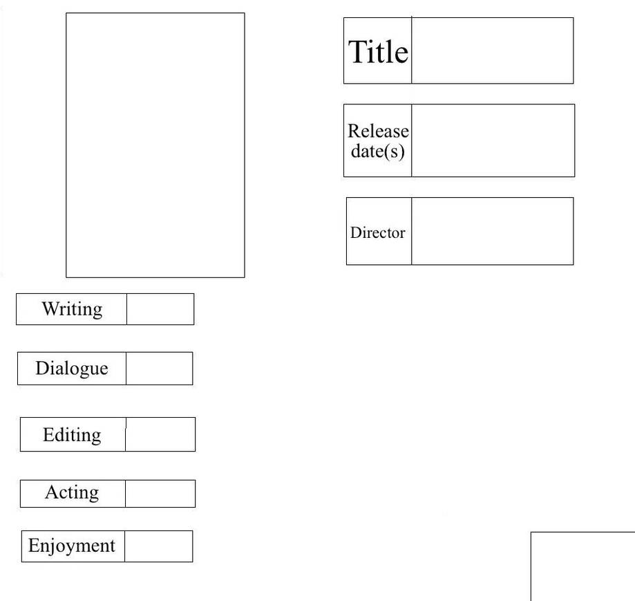 Movie Report Card: Blank Template by TyGuy16 on DeviantArt