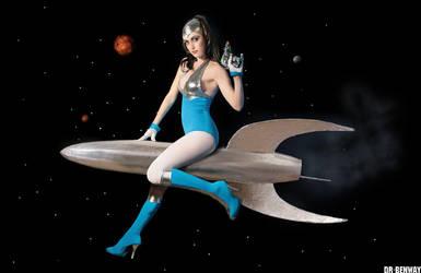 Spacegirl. Rocket Ride by Dr-Benway