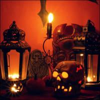 Halloween Mantle by redwolf518