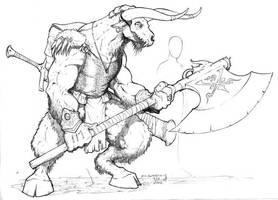 Minotaur by Inkthinker