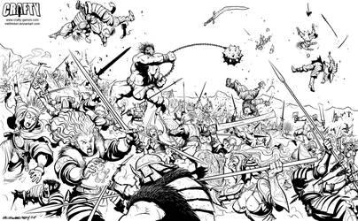 FantasyCraft - The Battle by Inkthinker