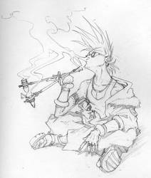 The Smoker by Inkthinker