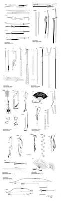 Iron Dynasty Weapons by Inkthinker