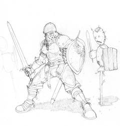 Sleeping Soldier: Armor Design by Inkthinker