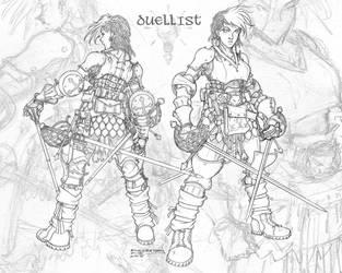 Duelist Armor Design by Inkthinker