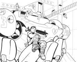OLD WORK - Heavy Gear dreamer by Inkthinker