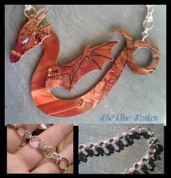 red winged serpent by thebluekraken