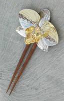 orchid hair pin by thebluekraken