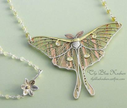 lunar moth by thebluekraken