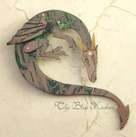 green dragon brooch by thebluekraken