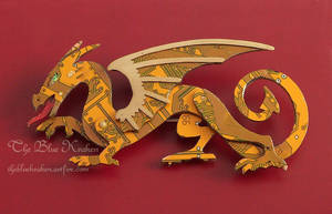 Gold slavic styled dragon- circuit by thebluekraken
