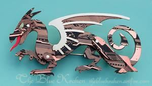 Black Dragon Brooch by thebluekraken