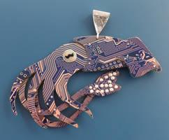 squid pendant by thebluekraken