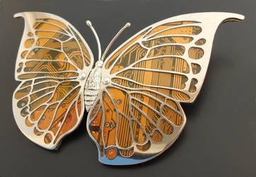 Leaf Wing Moth Brooch by thebluekraken