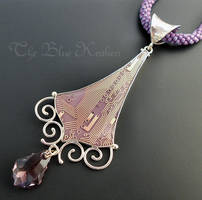 sterling lavender drop pendant. by thebluekraken