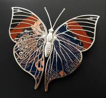 Indian Leafwing Moth Brooch by thebluekraken