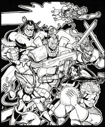 X-Force number 1 pin up by Jrascoe