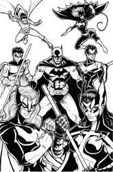 Bat-Man family by Jrascoe