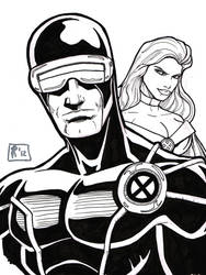 Cyclops and Emma sketch by Jrascoe