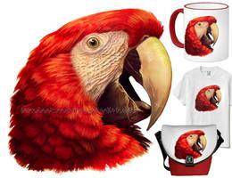 Scarlet Macaw by emmil