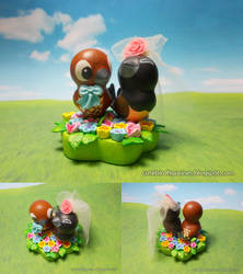 Peanut and Pipi wedding figurine by emmil