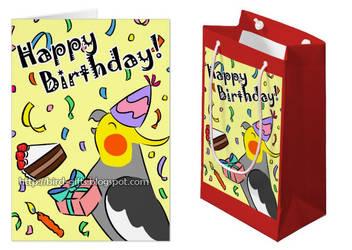 Happy Birthday Cockatiel by emmil