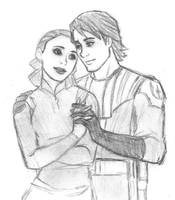 Padme and Anakin - Star Wars Clone Wars sketch by KatyTorres