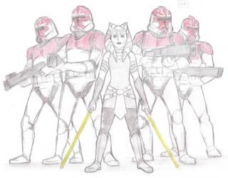 SW The Clone Wars - Ahsoka Troopers by KatyTorres