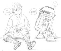 Star Wars -  Luke and Artoo by KatyTorres