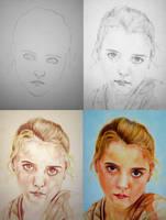 Bouguereau Portrait - Drawing Process by PMucks