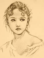 Vintage Bouguereau Girl by PMucks