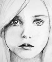 Angelic Girl Sketch by PMucks