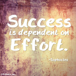 Quote - Success is Dependent on Effort by rabidbribri
