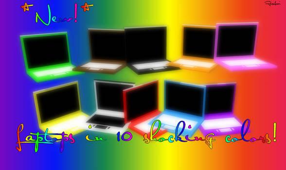 MMD - Colorful Laptops + DL by RoseBeri