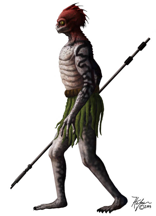 LEV - Reptilian Humanoid David Icke by HalHefnerART