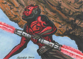 Darth Maul In Training ACEO by HalHefnerART