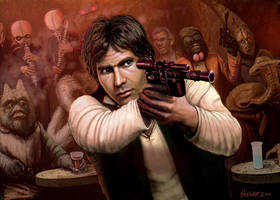 Han Solo Adventures - HAN SHOT FIRST by HalHefnerART