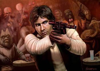 Han Solo Adventures - HAN SHOT FIRST by HalHefnerART