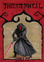 Darth Maul Star Wars Day ACEO by HalHefnerART