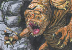 Luke Vs. Rancor ACEO by HalHefnerART