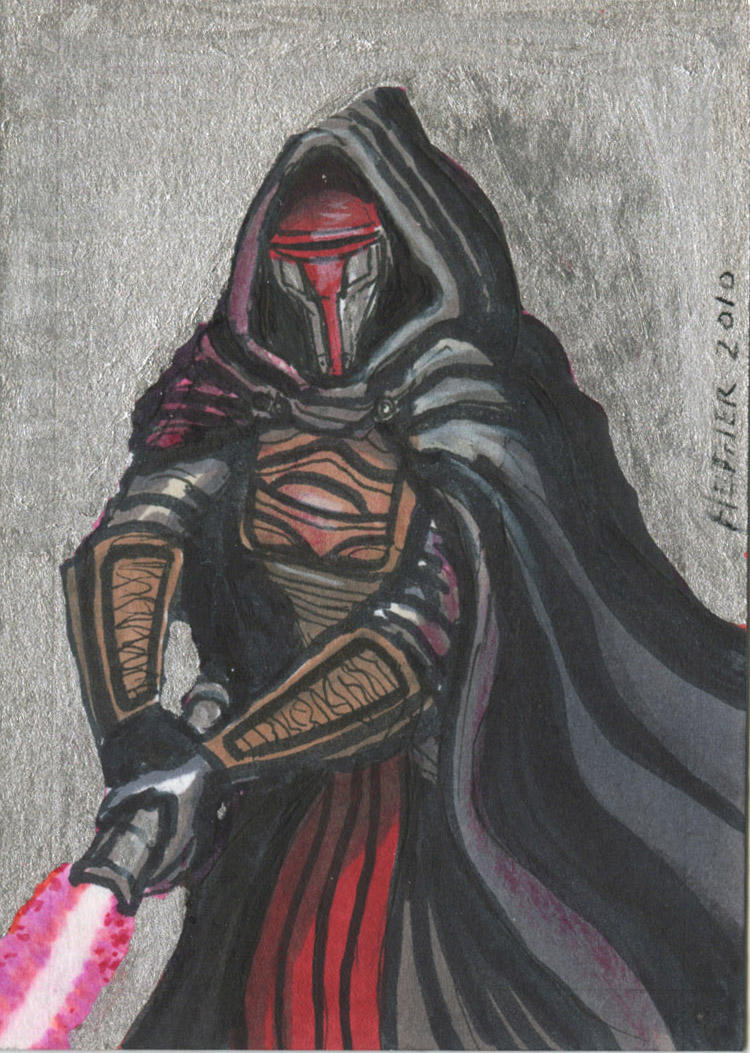 Darth Revan Sketch card Metal by HalHefnerART