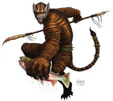 Tiger Man by HalHefnerART