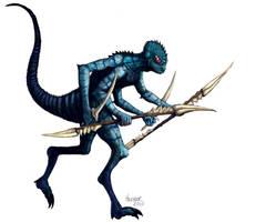 Lizard Man by HalHefnerART